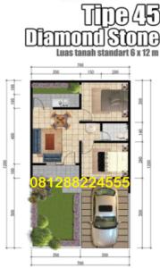 Curug Garden layout type 45